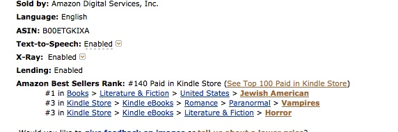 #140 on Kindle